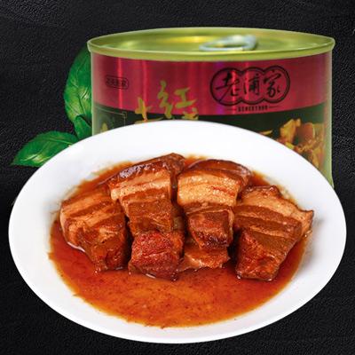 老浦家红烧土猪肉罐头260g